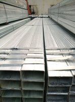Large Stock Low price ASTM EN JIS Standard China Supplier Q235 Galvanized Square Galvanized Steel Tube