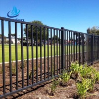 New design 6 foot wrought iron fence hot sale, solid fence wrought iron for playground