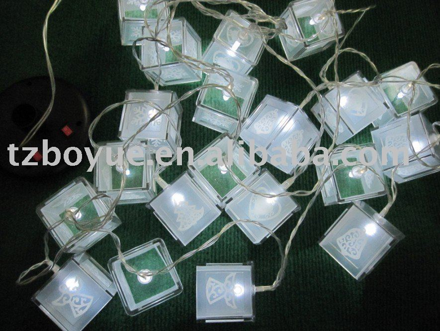 led solar christmas light with different picture lantern