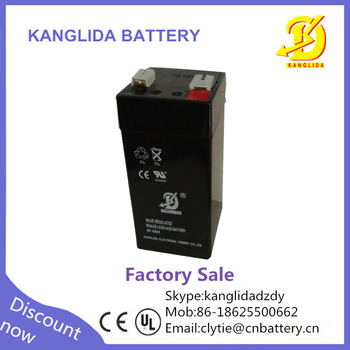 rechargeable 4v4ah sealed lead acid battery manufacturer