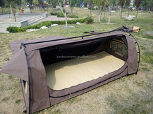 Outdoor camping canvas swag dome tent