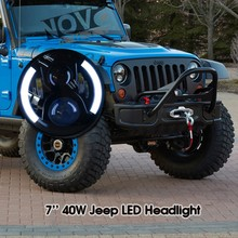Jeep Wrangler LED Tail Light Truck Motorcycle Part 7 Inch C ree Chip Round Off Road Head Light