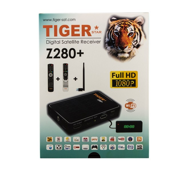 Tiger star set top box of Z280+ digital <strong>satellite</strong> receiver with Full HD MINI 1080P