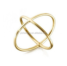 Simple Design Ring Wholesale Double X Gold Vermeil Ring - The It Ring