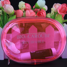 wholesale clear women personalized pvc cosmetic bag with clear pvc zipper bag