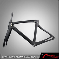 light Road bicycle frame RAW carbon fiber road bike frame+seat post+clamp+headset+fork