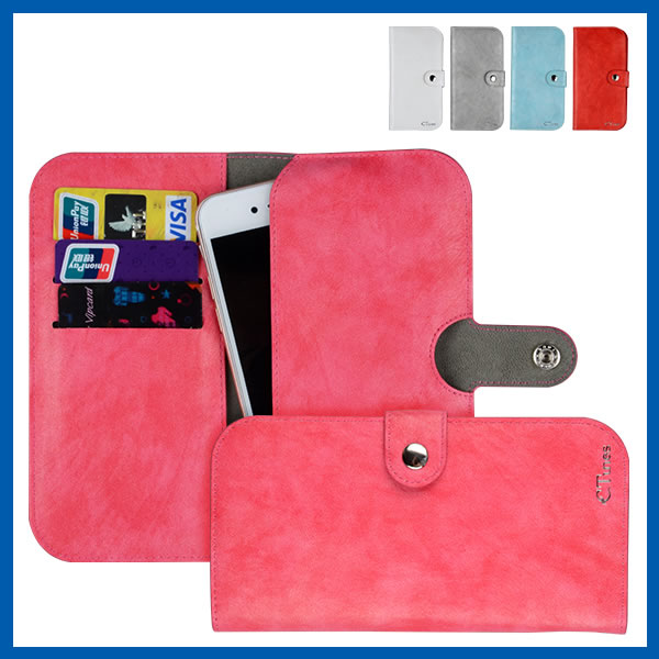 C&T Newest unique design three folding leather for iphone 6 hot selling wallet case