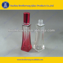 35ml square perfume glass bottles with red graduated color