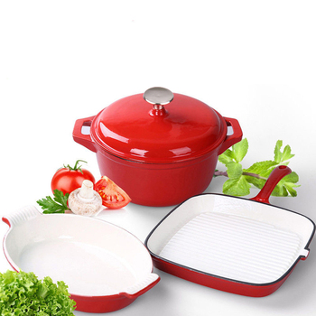 Cast iron kitchen pot and pan sets with low price