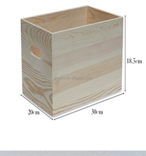 Wholesale cheap custom wood handicrafts finished make up storage box