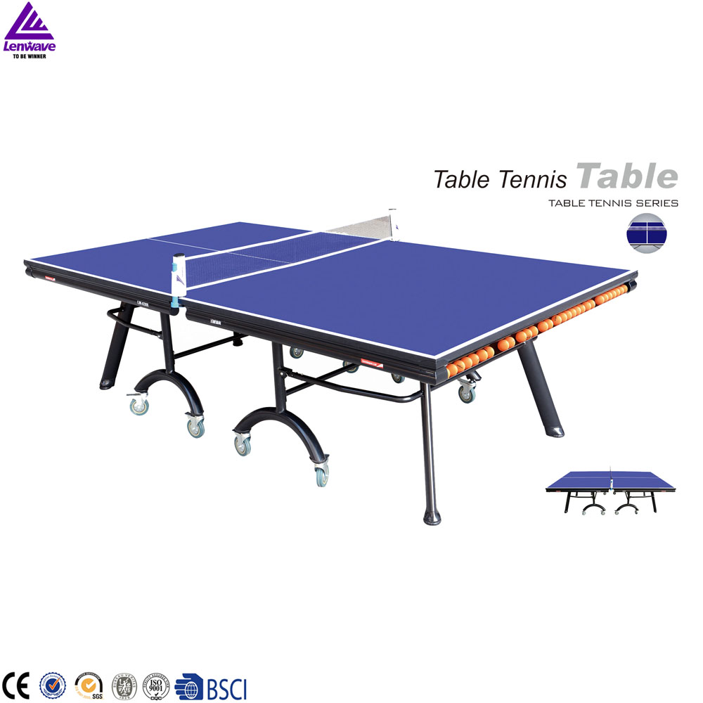 2016 Lenwave brand professional indoor 25mm MDF folding table tennis table