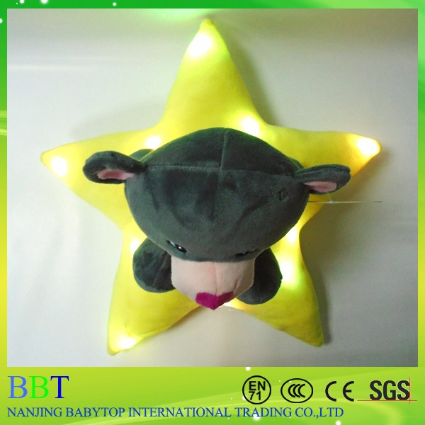 LED Light Teddy Bear Plush Toy Custom Star Bear For Kids
