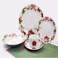 hot products for united states 2016,Dinnerware Set Service for 4 Kitchen Floral Elegant Dinner Earthenware WHITE