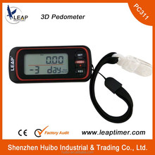 Running dedicated 3D pedometer walking meter