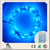 Remote Control Dimmable Blue Color LED String Lights Outdoor starry Fairy Lights with Copper Wire 10M 100Leds