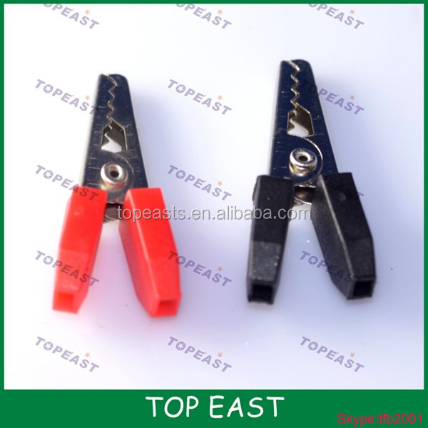 Alligator clip 35MM red and black-TP-AT-0004