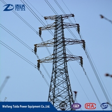 110KV Electric Power Galvanized Steel Self Support Transmission Tower