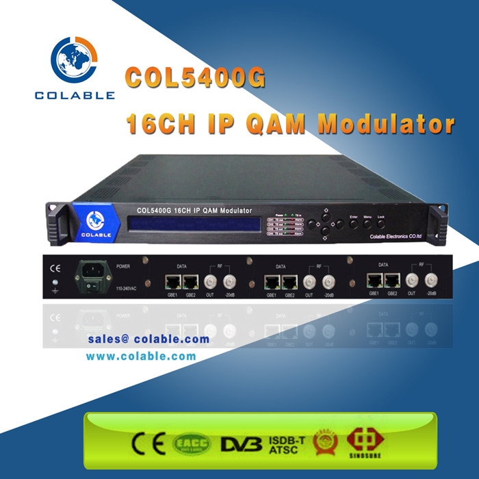 16 in 1 edge qam modulator with mux-scrambling, ip qam module COL5400G