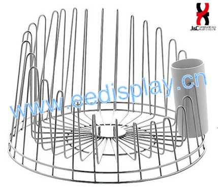 Stainless Steel Dish Drainer/Unique Design Round shape Kitchen cup& dish rack/Flower display stand for Kitchen