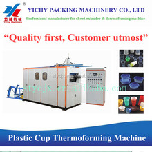 YC-660 Full automatic disposable plastic glass making machine