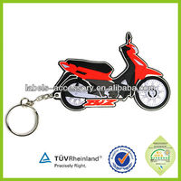 2014 hot promotional diving motor cap design motorcycle helmet keyring rubber