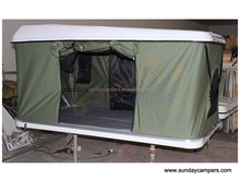 Hard Shell fiberglass car Roof Top Tent