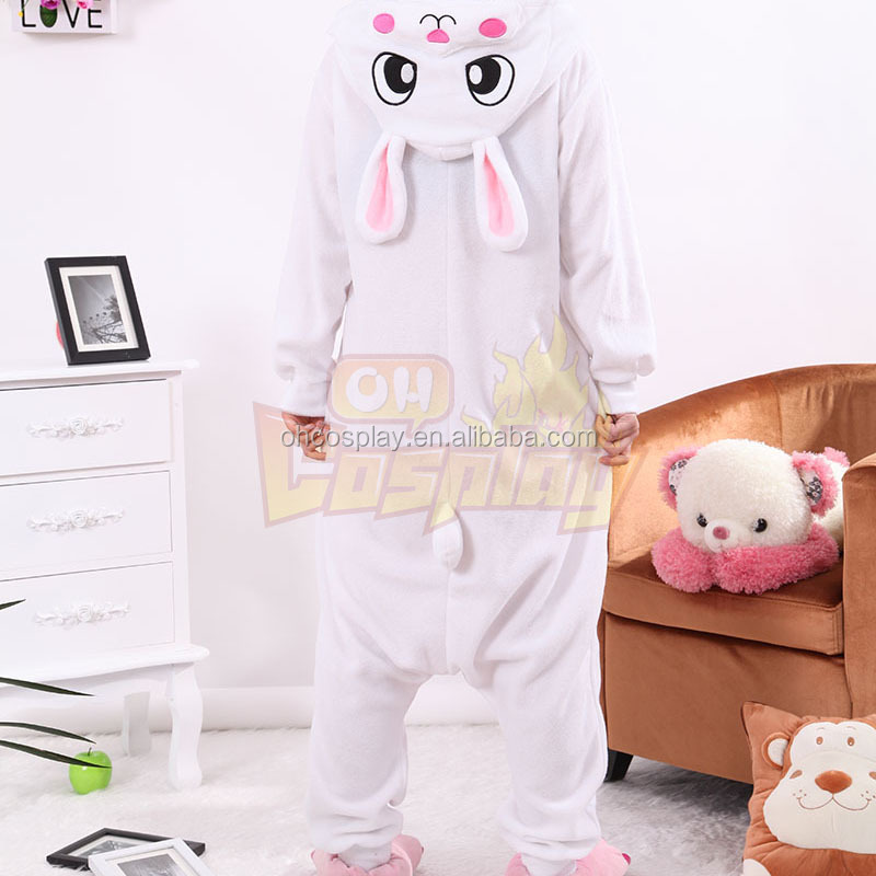 Adult Animal Rabbit Polar Fleece Kigurumi Pajamas