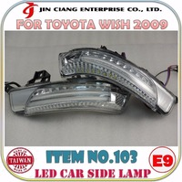 Automobile parts Mirror Cover FOR JAPAN TOYOTA SAI LED CAR SIDE LAMP