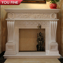 In Door Wood Burning Decorative French Style Marble Fireplace Mantel