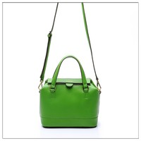mid size green genuine leather handbag trendy bags for girls