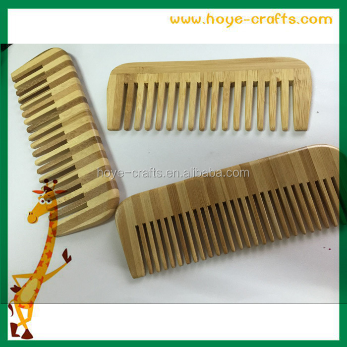 Custom pocket combs wide tooth bamboo beard comb