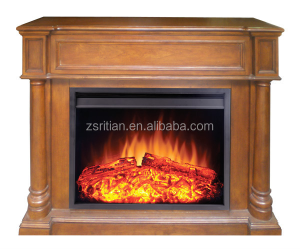 Decor Flame Electric Fireplace Heater With Wood Mantel Buy Electric Fireplace Decor Flame