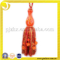 Orange Polyester Tassel Tieback For Curtain Drapery Purdah Door Curtain Mosquito Net