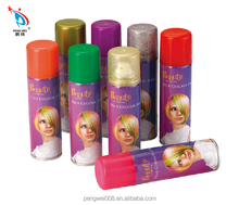 wholesale colorful hair spray/temporary for party celebration
