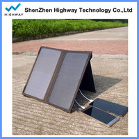 14w foldable solar panel bag charger with dual output usd for mobile phone