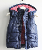 Hot sale ! Beauty babies waistcoat with hoodies wholesale clothing