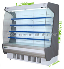Commercial Refrigerated Produce Display Cooler for Beverage