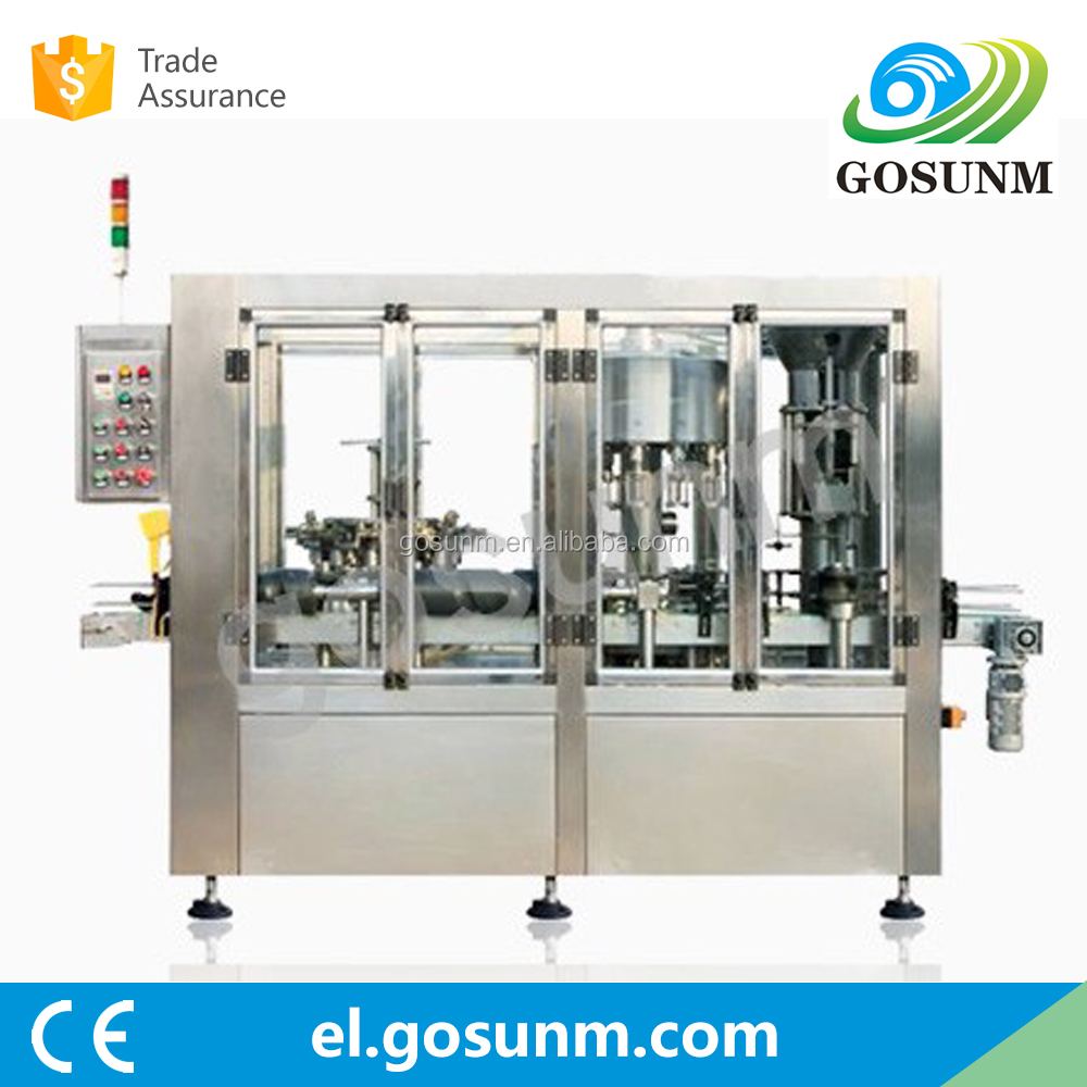 Professional Machinery Manufacturer GuangDong Bottle washing, Filling, capping 3 in 1 fruit juice corking machine