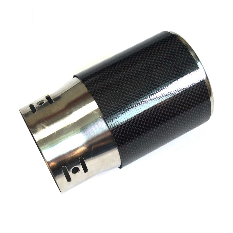 Carbon Fiber Tubing For Motorcycle Exhaust Muffler Tip Application