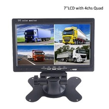 7 inch Screen 4 Split Quad TFT Lcd Monitor For Truck Bus