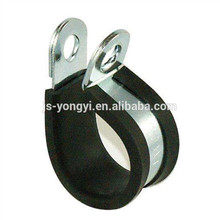 New design rubber coated p shape wire clip with certificate