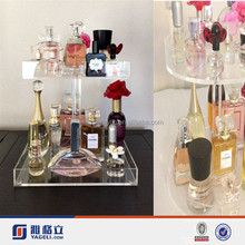 2015 Hot Sale Manufacturers Rotating 2 Tiers Acrylic Perfume Display Stands