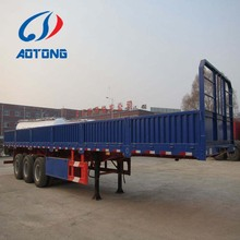 China manufacturer SINOTRUK Semi-Trailers, Side Wall Open bulk cargo semi truck trailer