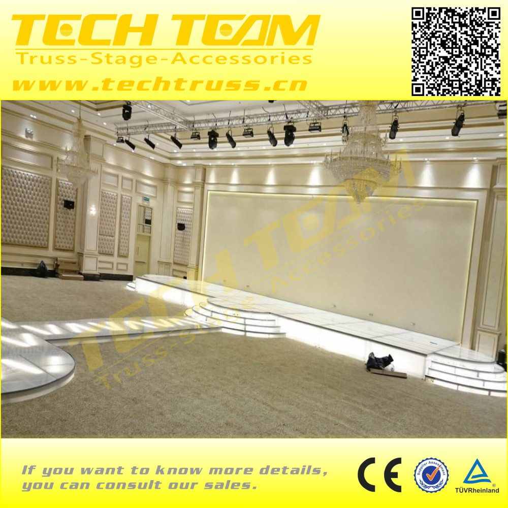 Portable Aluminum Frame Plywood Top Stage sale low cheap price