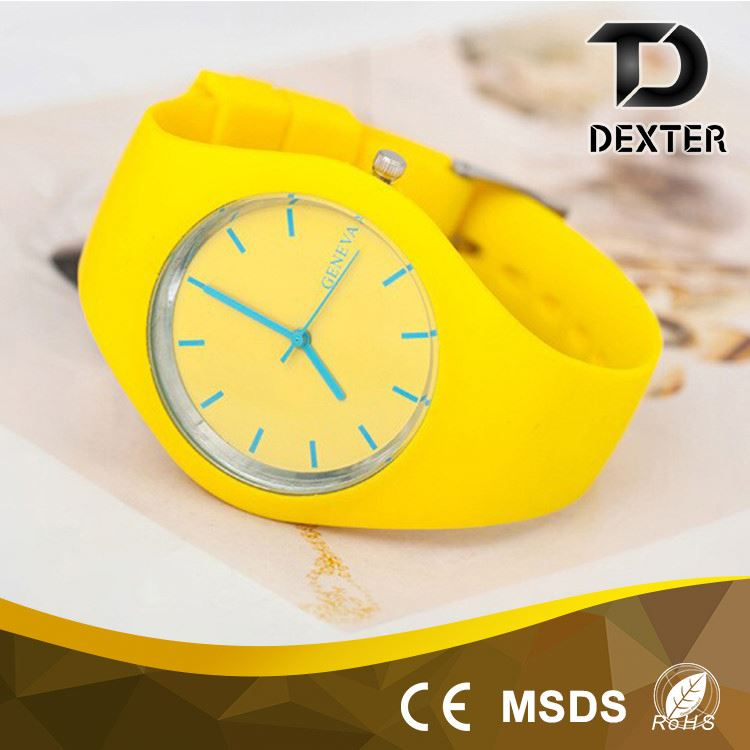 European style fashion new silicone watch band women silicone wrist watch