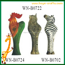 carved animal beer openers wooden zebra shaped Bottle Openers