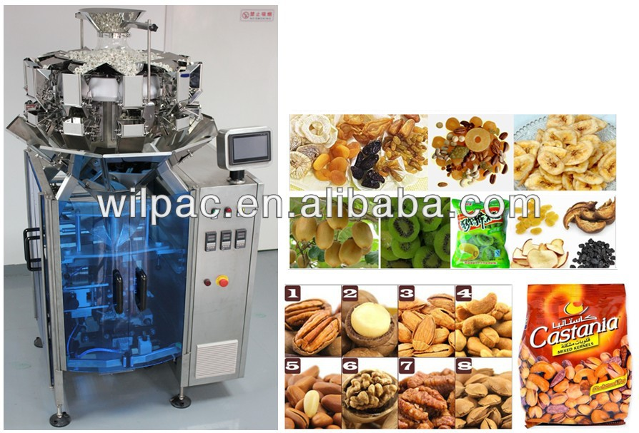 Multihead weigher and Vertical Packing combined machine ( 2 in 1 unit)