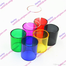 Colored borosilicate glass tube with heavy wall thickness