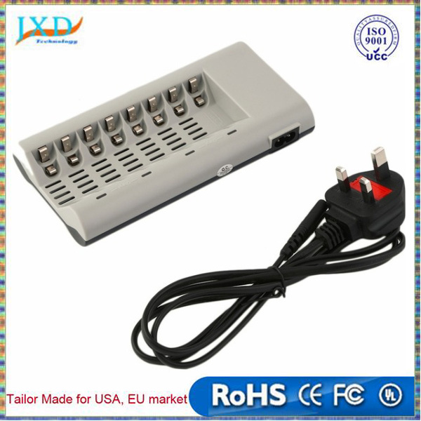 NEW 8 Slots Charger for AA / AAA Ni-MH / Ni-Cd Batteries Rechargeable Battery EU/US/UK Plug