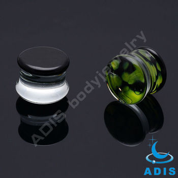 2013 Hot Sell Plug Tunnel Glass Ear Piercing Tunnel